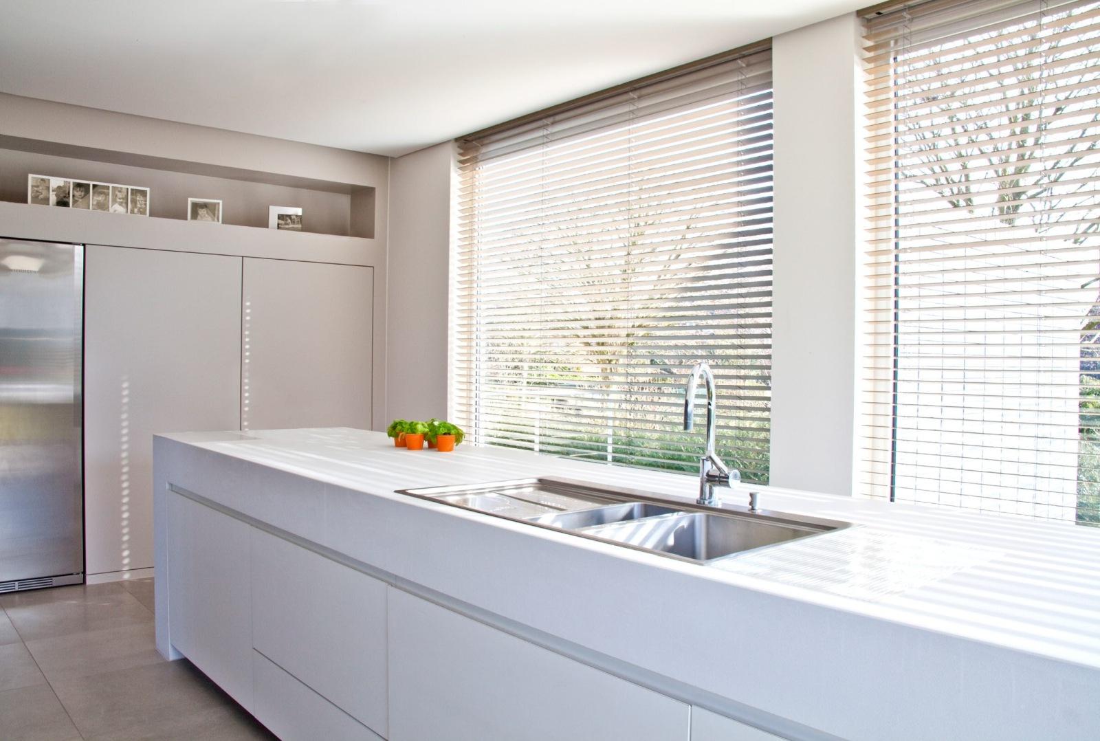 Holz-Rollo Küche